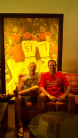 Inside the Champions Club at Busch Stadium.