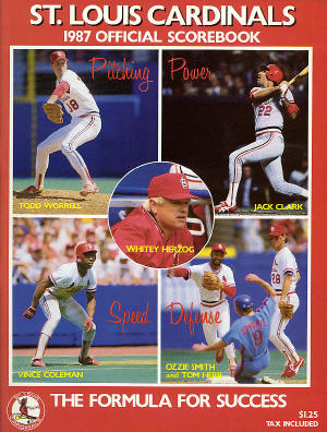 1987 National League Champion St. Louis Cardinals